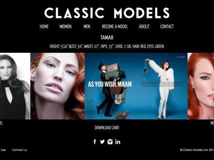 Classic Models Site Design
