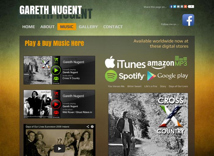 Musician Band Site Design