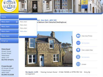 Estate Agent Site Design