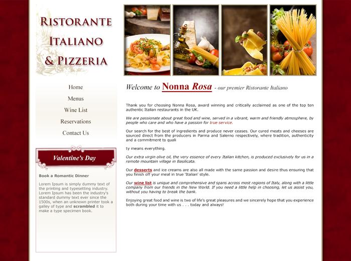 Ristorante Site Design