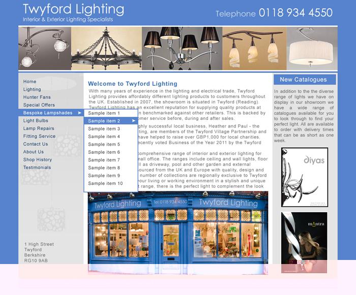 Light Shop Site Design