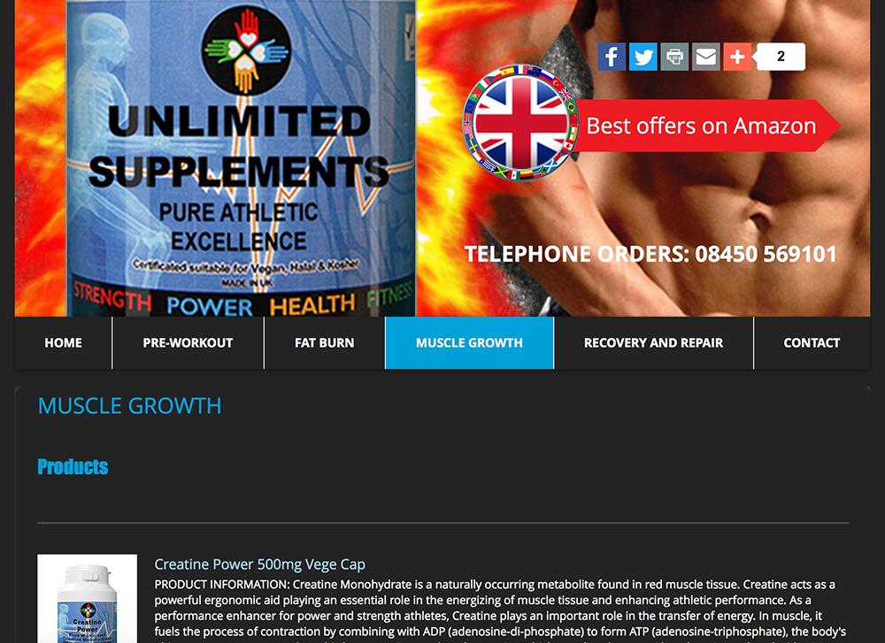 unsupps Site Design
